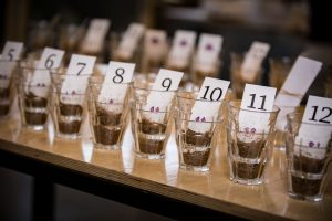 cupping coffee at our Nordic Approach headquarters in Oslo